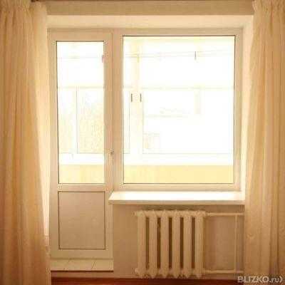 Балконный блок пвх окно 1350х1370 дверь 650х2100 5 камерное .