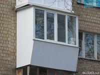 Остекление балкона/лоджии exprof 1 кам стеклопакет 2300мм*15.