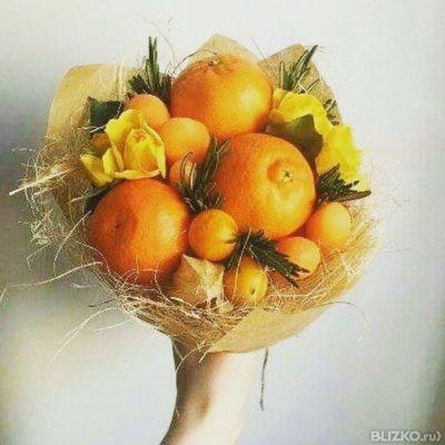 Букет из фруктов своими руками пошаговое для начинающих